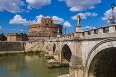 Castle de Sant Ángel en Roma Italia Imágenes de archivo libres de regalías