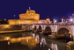 Castle de Sant Ángel en Roma Italia Foto de archivo