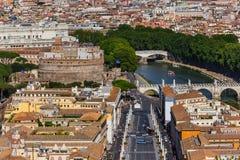 Castle de Sant Angelo στη Ρώμη Ιταλία Στοκ Φωτογραφίες