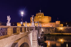 Castle de Sant Angelo in Rome Italy Stock Images