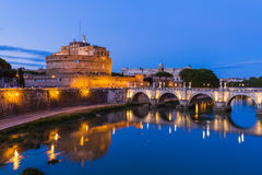 Castle de Sant Angelo in Rome Italy Stock Photography