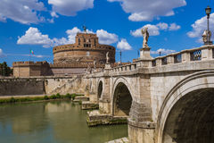 Castle de Sant Angelo in Rome Italy Royalty Free Stock Images