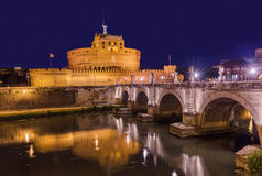 Castle de Sant Angelo in Rome Italy Stock Photo