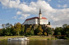 Castle Decin, Czech republic Stock Images