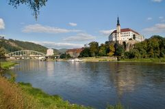 Castle Decin, Czech republic Royalty Free Stock Image