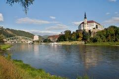 Castle Decin, Czech republic Royalty Free Stock Image
