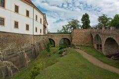 Castle Decin Stock Images