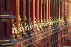 Castle decorative fence Royalty Free Stock Photography
