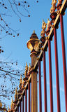 Castle decorative grille fence Royalty Free Stock Images