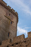 Castle defence wall. And blue sky Royalty Free Stock Photos