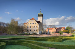 Castle Delitzsch - ειδυλλιακός πολύτιμος λίθος στοκ φωτογραφία με δικαίωμα ελεύθερης χρήσης