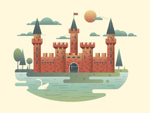 Castle design flat Royalty Free Stock Photography