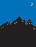 Castle  design. Medieval castle silhouette  illustration Royalty Free Stock Images