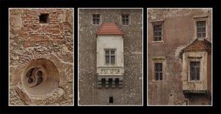Castle detail triptic composite Royalty Free Stock Photography