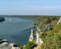Castle Devin Slovakia Danube Stock Image