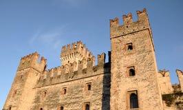 castle di garda意大利lago sirmione 库存图片