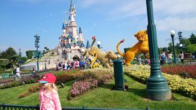 Castle of Disney Land Royalty Free Stock Photography