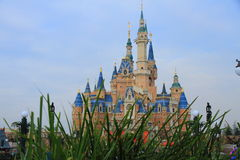 Castle at Disney World in shanghai. Castle at Disney World Magic Kingdom in shanghai, China during a sunny day Royalty Free Stock Photos