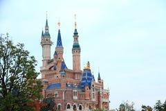 Castle at Disney World in shanghai Stock Photo