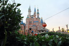 Castle at Disney World in shanghai Stock Images