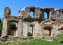 Castle Dobele. Livonian Order medieval castle ruins stock images