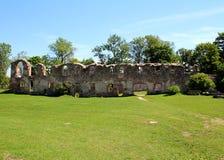 Castle Dobele. Livonian Order medieval castle ruins stock photo