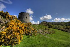 Castle Dolbadarn Keep Stock Photography