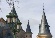 Castle Domes. Ancient castle domes. Segovia old town Royalty Free Stock Photography