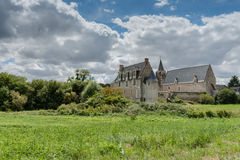 Castle and donjon of the French city of loches, france, Loire va Royalty Free Stock Photo