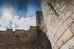 Castle and donjon of the French city of loches, france, Loire va Royalty Free Stock Photography