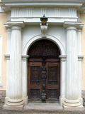 Castle Door. Front Entrance of Hermsdorf Castle Stock Photography