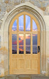 Castle door sunset view Royalty Free Stock Images