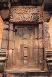 Castle door. At Wat sa kam phaeng yai castle stock photos