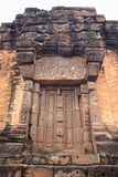 Castle door. At Wat sa kam phaeng yai castle royalty free stock image