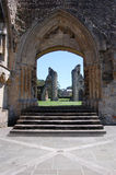 Castle doorway. Ancient historical Castle ruins from Glastonbury England Royalty Free Stock Photography