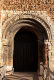Castle Doorway. A Norman doorway detail on Colchester Castle Royalty Free Stock Photo