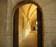 Castle Doorway. Interior view through a castle doorway Stock Images