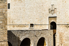Castle doorway. Detail of the castle of Barletta, a city located in Apulia, south Italy Royalty Free Stock Photography