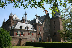 Castle of Doorwert, Netherlands. 13th century castle royalty free stock images