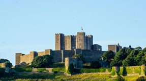 Castle in Dover England at blue sky stock images