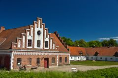Castle Dragsholm outbuildings Stock Image