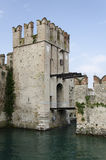 Castle and draw bridge Royalty Free Stock Photography
