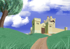 Castle Drawing Royalty Free Stock Photography