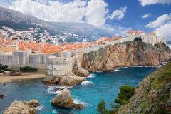 Castle in Dubrovnik. Croatia. Aerial view on ancient castle in Dubrovnik. Croatia Royalty Free Stock Photos