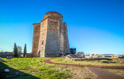 Castle of the Dukes of Alba, Castilla y Leon, Spain. Beautiful panoramic view of famous Castle of the Dukes of Alba in the historic city Alba de Tormes, Castilla royalty free stock images
