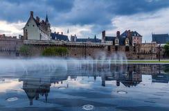 Castle of the Dukes of Brittany (Chateau des Ducs de Bretagne) i. N Nantes, France stock photos