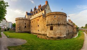 Castle of the Dukes of Brittany (Chateau des Ducs de Bretagne) i. N Nantes, France stock photo