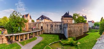 Castle of the Dukes of Brittany Chateau des Ducs de Bretagne i. N Nantes, France stock photo
