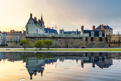 Castle of the Dukes of Brittany (Chateau des Ducs de Bretagne) i. N Nantes, France stock photography
