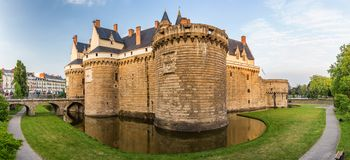 Castle of the Dukes of Brittany (Chateau des Ducs de Bretagne) i. N Nantes, France stock images